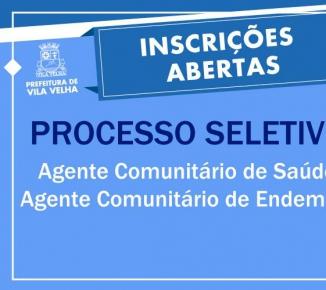 a576386a7cb94 Prefeitura Municipal de Vila Velha  Inscrições para seleção de agentes de  saúde terminam neste domingo (15)