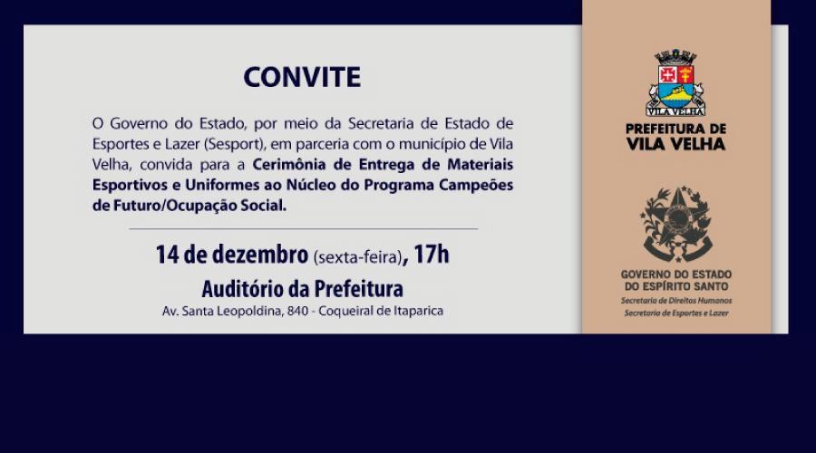 8ab703cf8 Prefeitura Municipal de Vila Velha  Mais materiais para núcleos ...