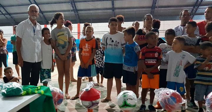"""d0667eaf8 O projeto """"Campeões de Futuro"""" é uma parceria da Secretaria de Estado de  Esportes e Lazer (Sesport) com a Prefeitura de Vila Velha."""